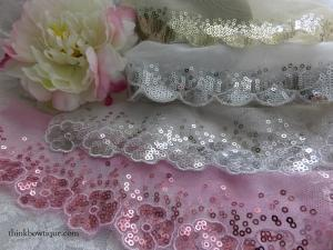 Sequin lace trims