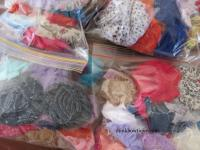 Shabby chiffon grab bag pack of 32 mixed flowers