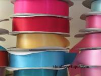 Double sided-faced satin ribbon