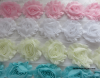 Shabby chiffon flowers 6cm pkt 5 same colour