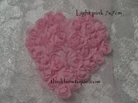 7cm x 7cm Rose mesh hearts small