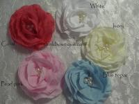 8cm Bella rose crinkle flower
