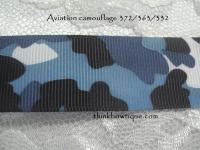 9mm Aviation camouflage printed grosgrain ribbon
