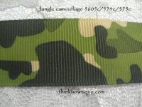 9mm Jungle camouflage printed grosgrain ribbon