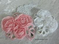 Chiffon sequin applique flower Australia