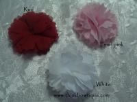 Chiffon hair flower