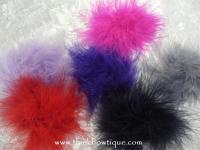 Marabou feather puff