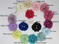 chiffon rhinestone and pearl flower