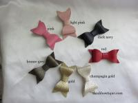 Faux Textured leather bows