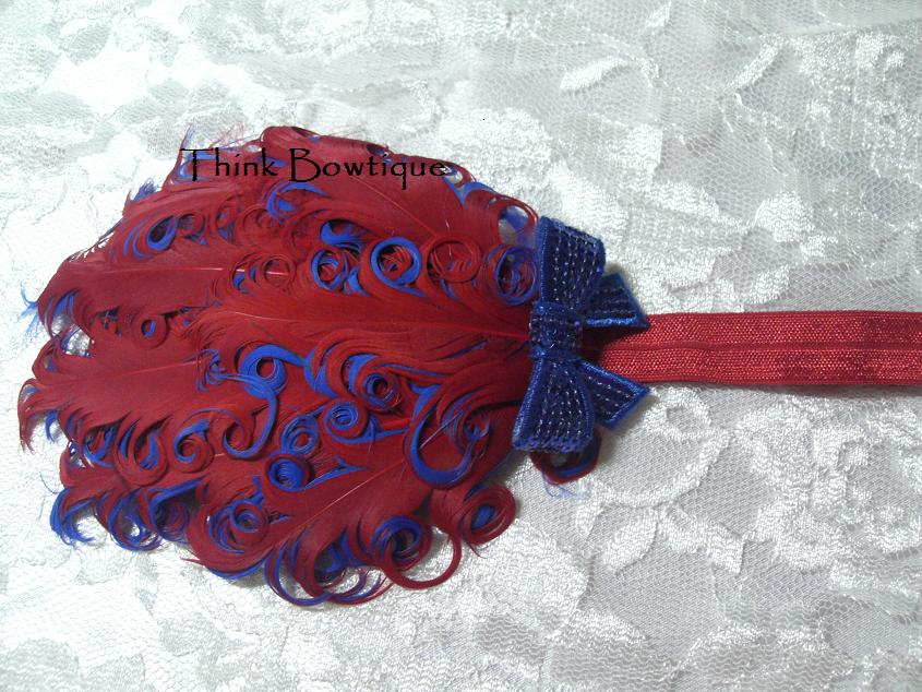 Nagorie curly feather headband supplies