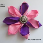 7 Petal ribbon flower tutorial