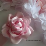 Make satin ribbon roses