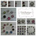 15mm Rhinestone and pearl buttons