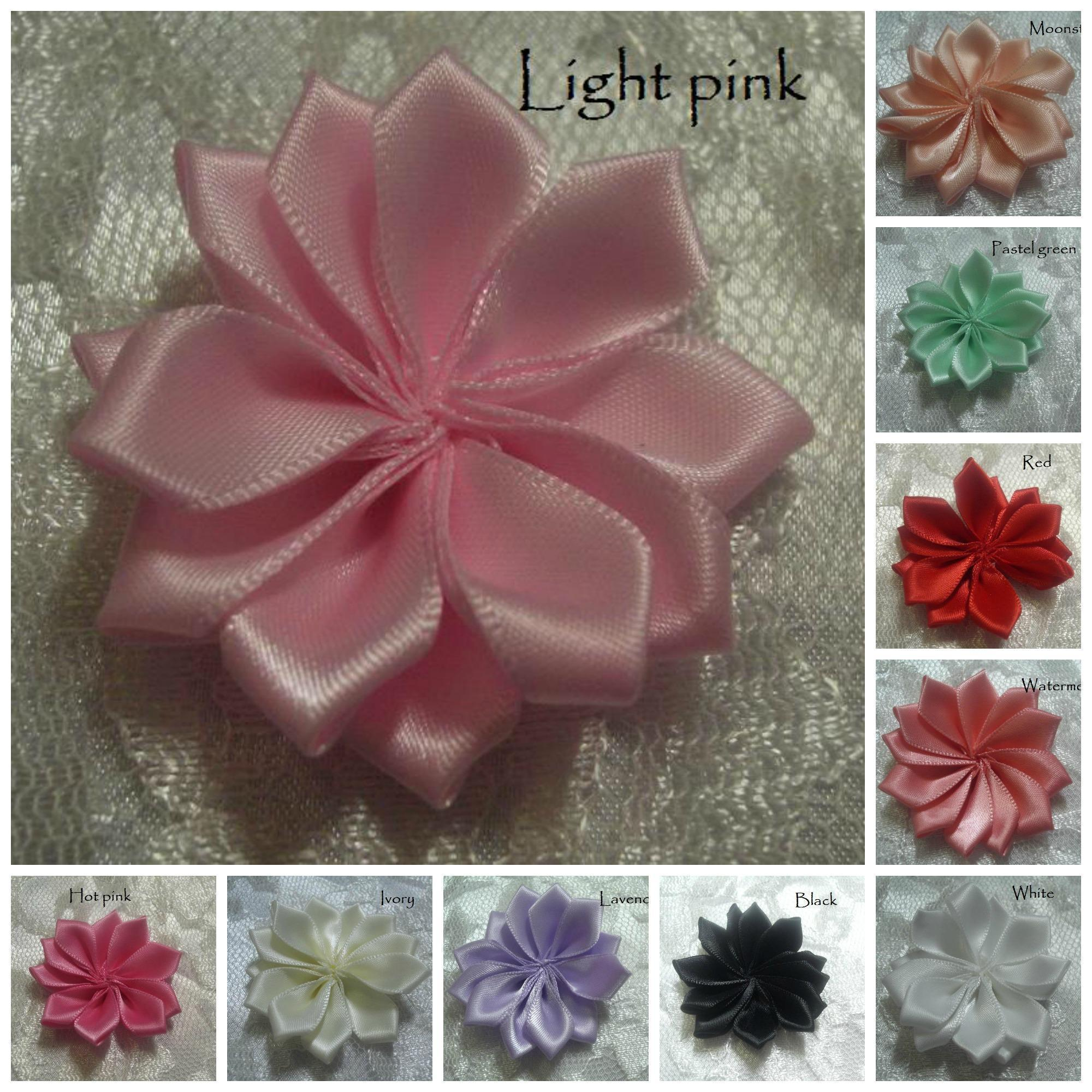 Satin Ribbon Star Flowers For Your Craft Supplies Online