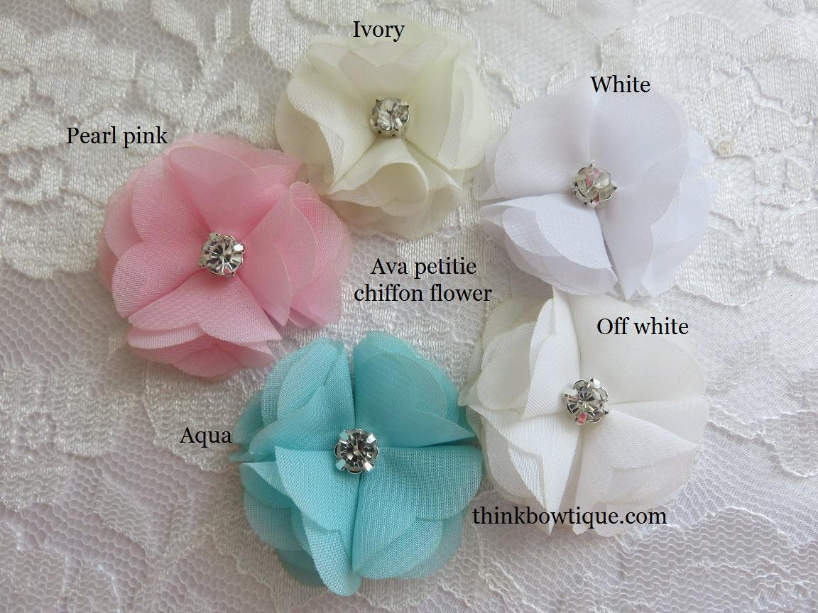 Chiffon fabric flowers for diy hair accessories and craft supplies mightylinksfo