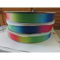 22mm printed grosgrain ribbon Double sided rainbow ribbon