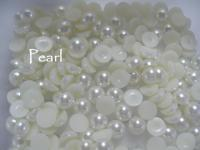 12mm Flat back pearls