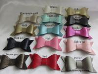 Faux Leather bow sample 14 pack