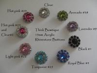 15mm Acrylic rhinestone button