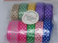 16mm Dot printed grosgrain ribbon 50 metre pack