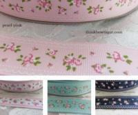 25mm floral printed grosgrain ribbons Australia