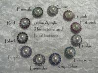 20mm Acrylic Rhinestone and pearl buttons