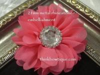 21mm clear metal rhinestone flat back embellishments