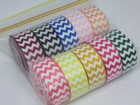 Chevron printed grosgrain ribbon Australia