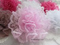 5cm lace cabbage flower.