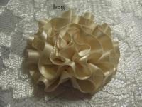 Ivory satin ribbon cabbage flower
