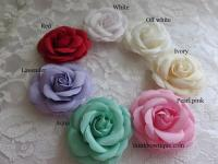 Fabric rose flower