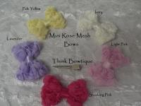 7cm Mini Rose mesh bows