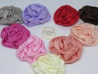 Satin ribbon fabric flowers Australia