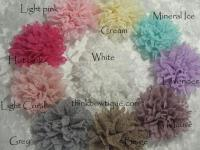Lace gauze fabric flower