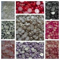 8mm Flat back pearls wholesale bulk