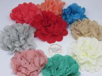 Lace fabric flowers Australia
