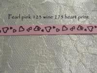 hearts printed grosgrain ribbon