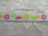 citrus printed grosgrain ribbon