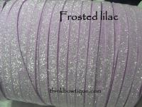 frosted glitter elastic