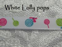 lolly pop printed grosgrain ribbon