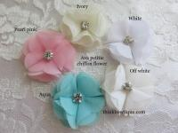 Ava small chiffon flowers