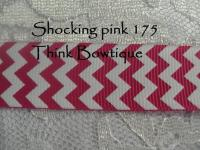 22mm - 7/8 chevron printed grosgrain ribbon 10 metres ALL colours