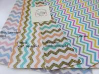Chevron faux leatherette fabric