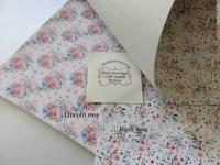Floral printed fabric leatherette sheet