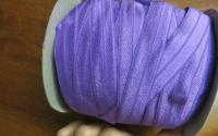Light purple fold over elastic 50 yard roll.
