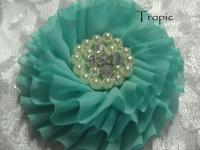 Rhinestone and pearl fabric flowers Australia