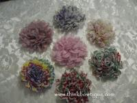 Dahlia chiffon flowers for your hair flower and craft supplies in Australia.
