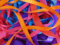 Satin ribbon grab bags